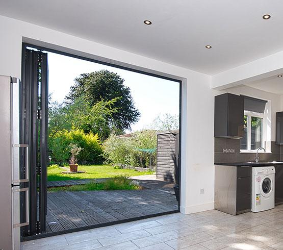 Patio Doors in a kitchen